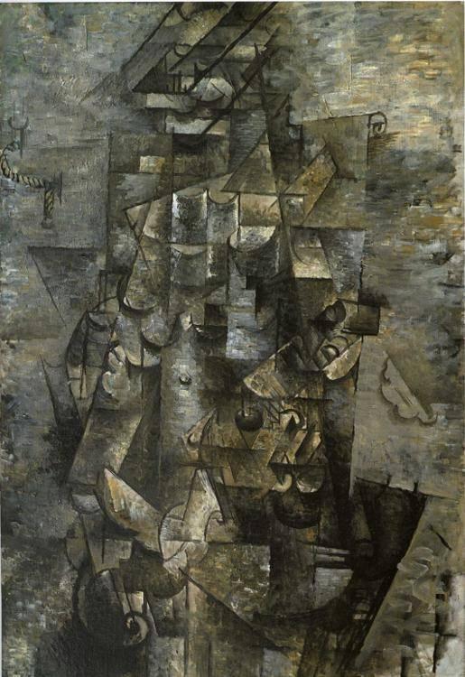 Hombre con una guitarra 1911 leo sobre lienzo for Braque peintre